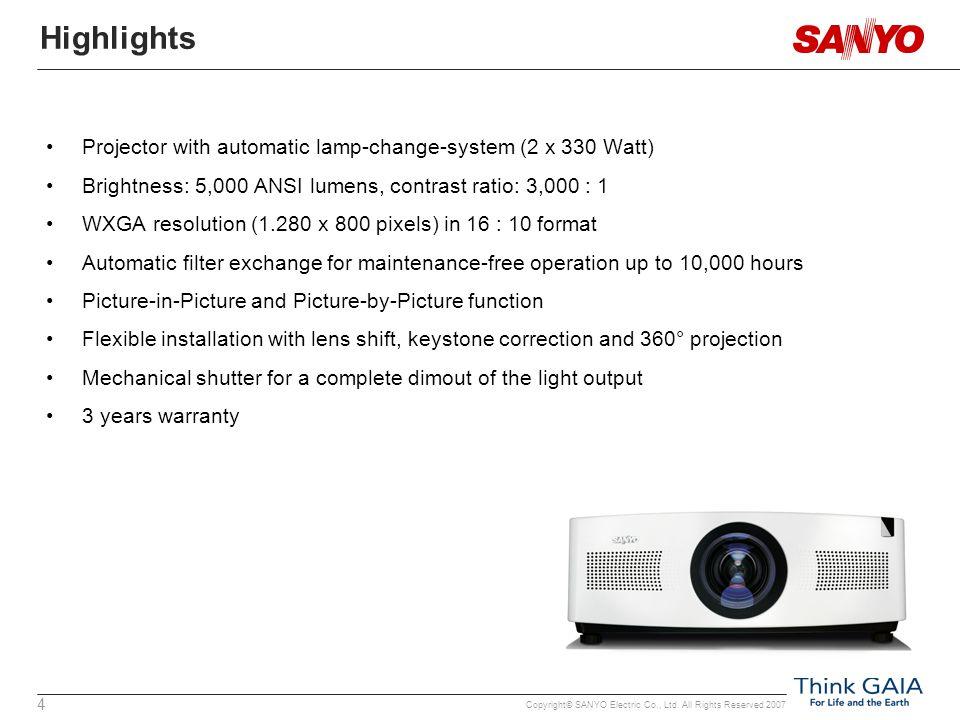 Copyright© SANYO Electric Co., Ltd.