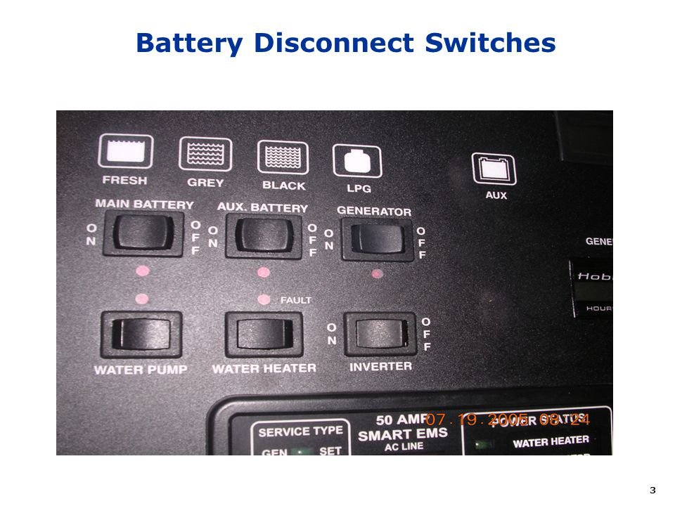 3 Battery Disconnect Switches
