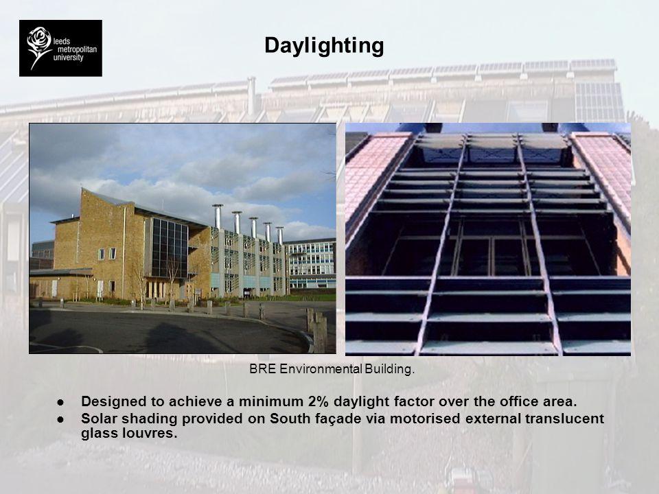 Daylighting BRE Environmental Building.