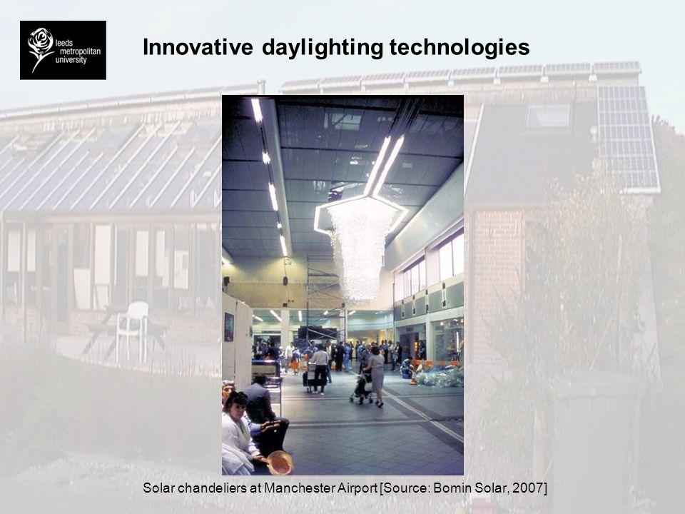 Innovative daylighting technologies Mirrored louvre system at Swanlea Secondary School, London [Source: Littlefair, 1996]