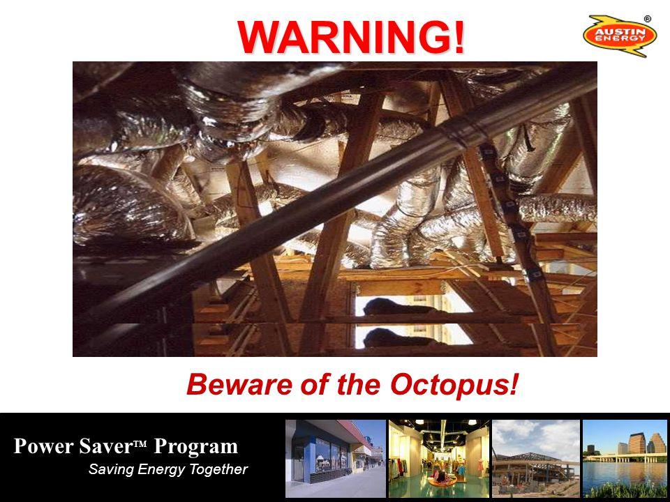 Power Saver TM Program Saving Energy Together WARNING! Beware of the Octopus!