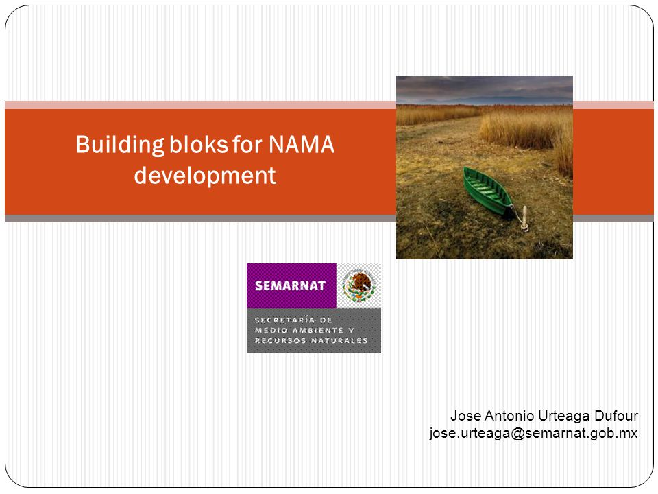Building bloks for NAMA development Jose Antonio Urteaga Dufour jose.urteaga@semarnat.gob.mx