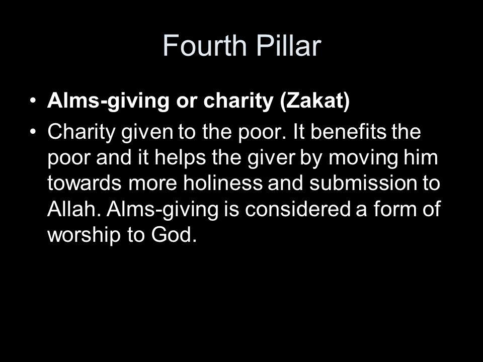 Fifth Pillar Pilgrimage (Hajj) This is the pilgrimage to Mecca.