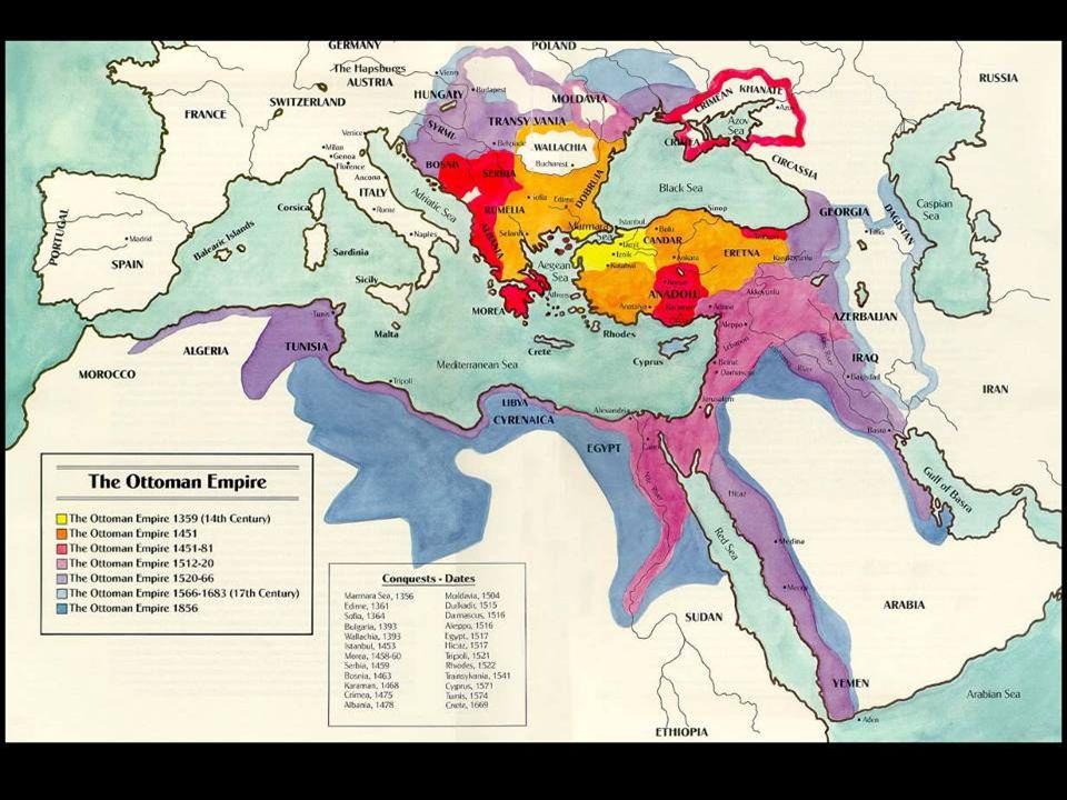 The Ottoman empire lasted until the twentieth century.