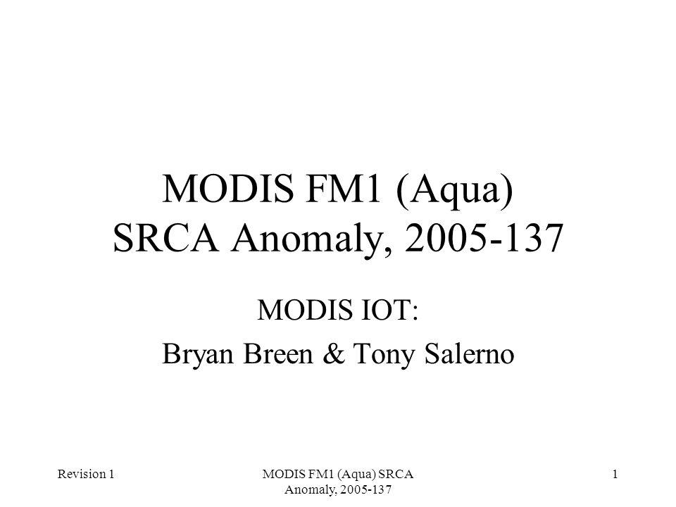 Revision 1MODIS FM1 (Aqua) SRCA Anomaly, 2005-137 1 MODIS IOT: Bryan Breen & Tony Salerno
