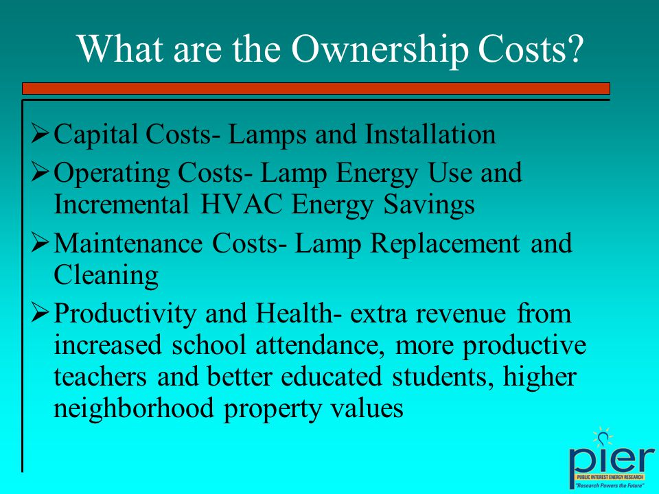 What are the Ownership Costs.