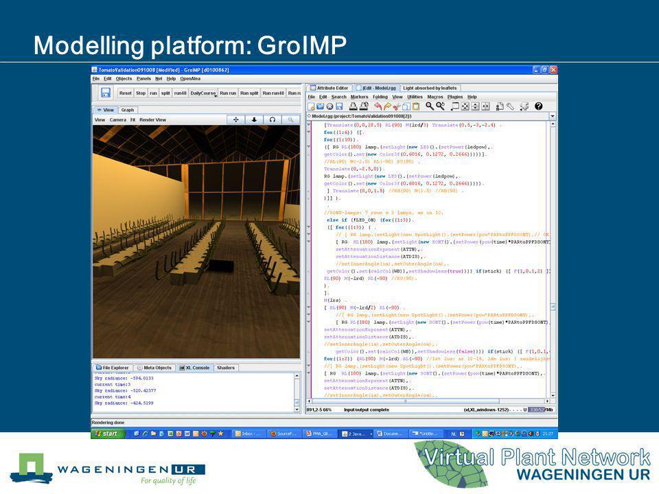 Modelling platform: GroIMP