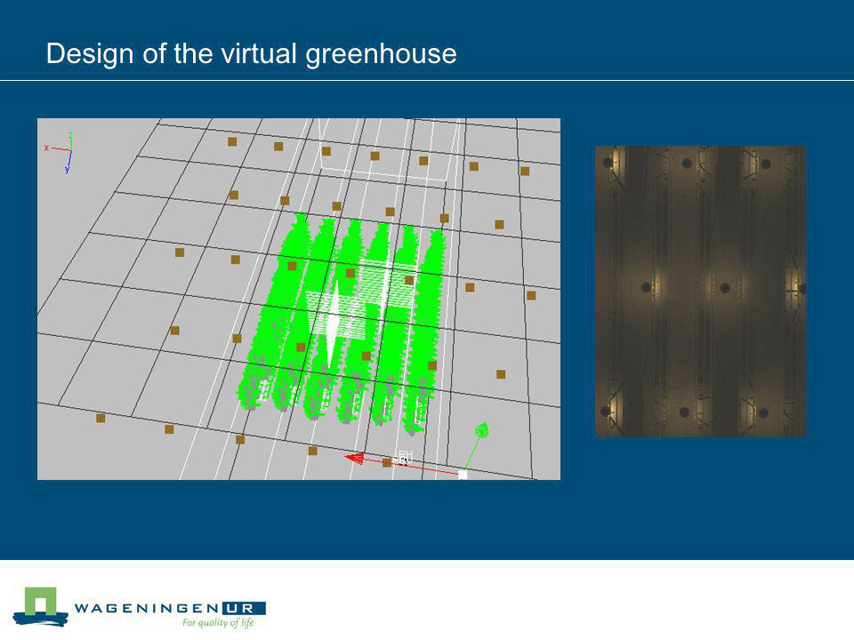 Design of the virtual greenhouse
