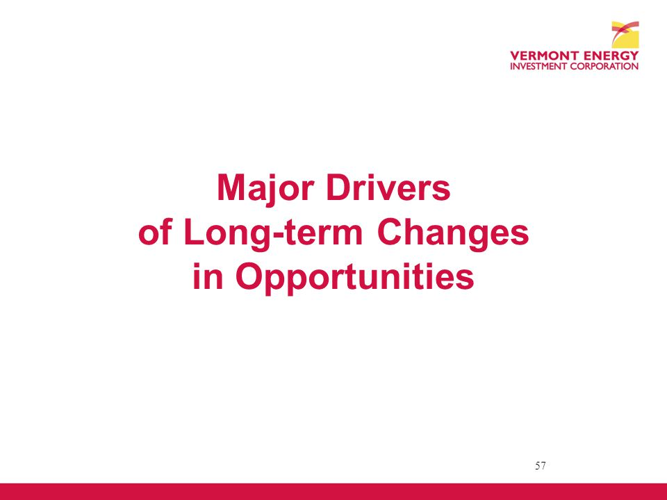 Major Drivers of Long-term Changes in Opportunities 57
