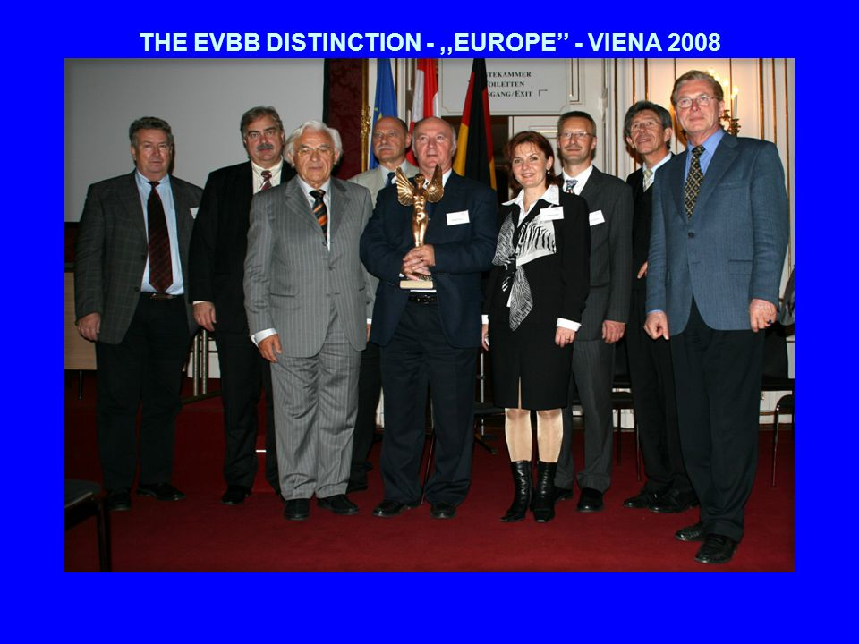 THE EVBB DISTINCTION -,,EUROPE - VIENA 2008