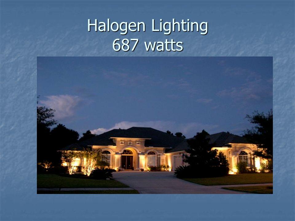 Halogen Lighting 687 watts