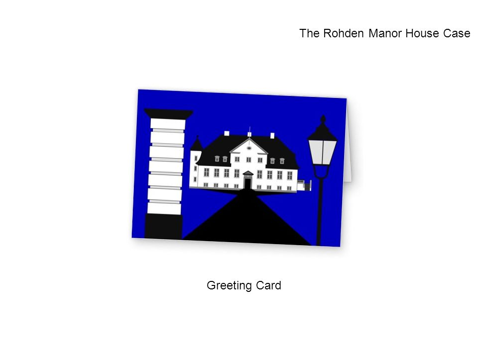 Greeting Card The Rohden Manor House Case