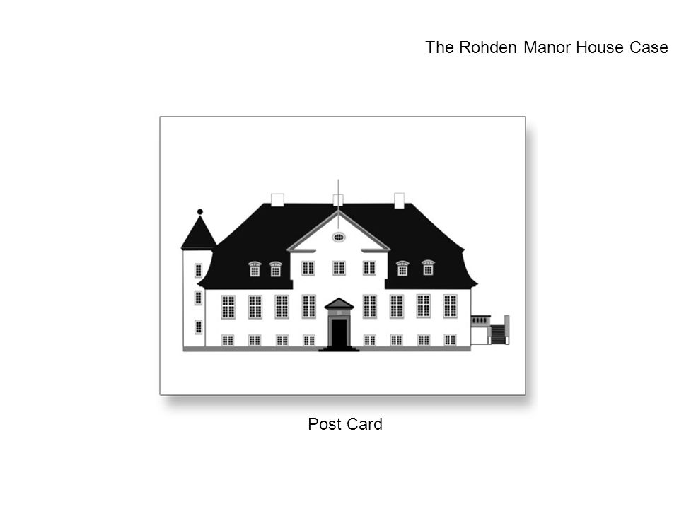 Post Card The Rohden Manor House Case