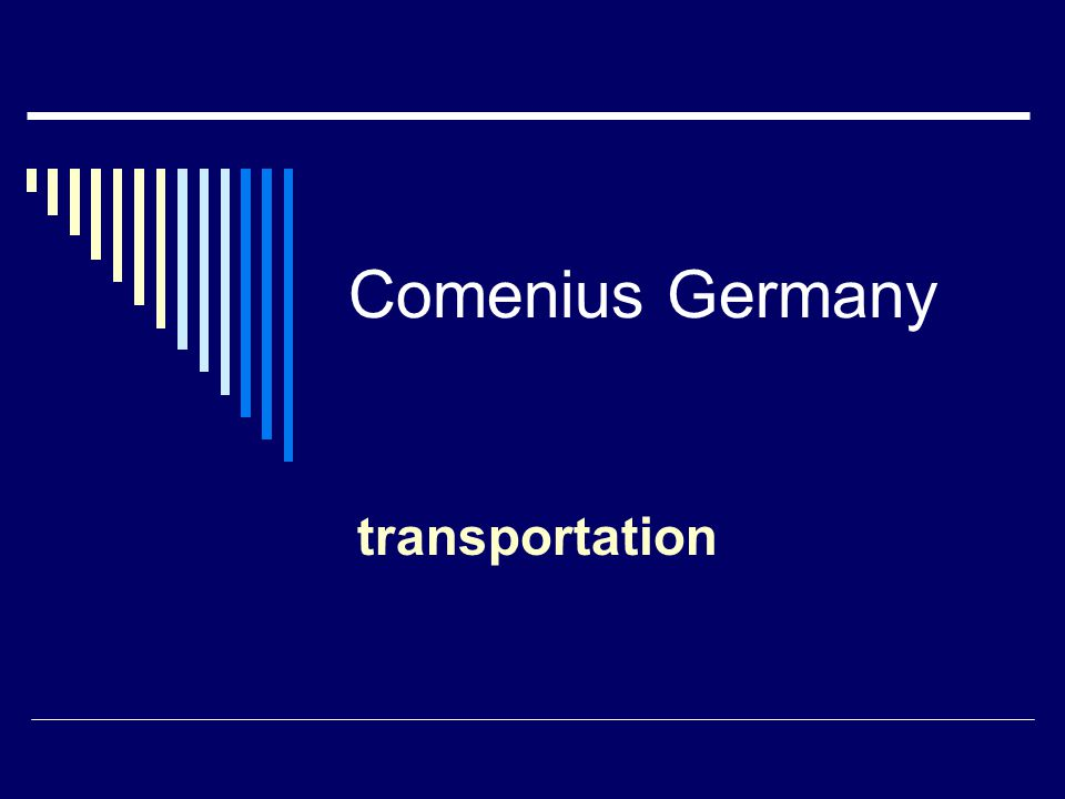 Comenius Germany transportation