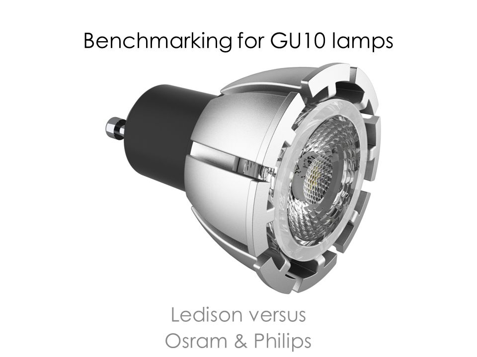 Two types of GU10 lamps Philips calls the GU10 short a GU10 Perfect fit Osram calls all GU10s Par16 lamps Ledison calls the long GU10s Par16 and the short version MR16-GU10 Sylvania calls the short GU10s ES50 (extra short 50mm) and the long GU10s Par16 Short lamps have to be compared with short lamps and long lamps with long lamps It is much easier to build long GU10s /Par16s since the heatsinks are much larger and can dissipate more heat The driver can also be less sophisticated as it has a lot more space It is the ultimate goal of Philips and Osram to eliminate the long GU10 lamps (par16) but in the absence of suitable short GU10 they keep on selling the old lamps