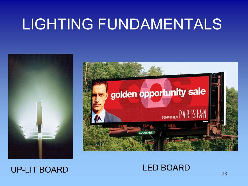 LIGHTING FUNDAMENTALS 36 LED BOARD UP-LIT BOARD