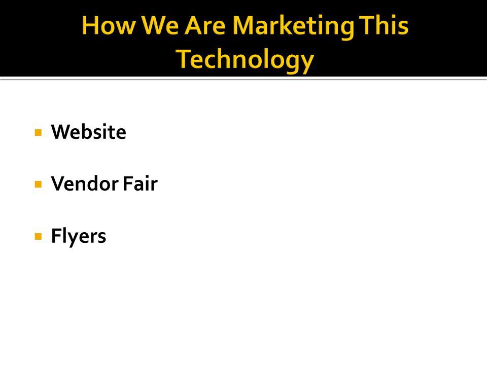 Website Vendor Fair Flyers