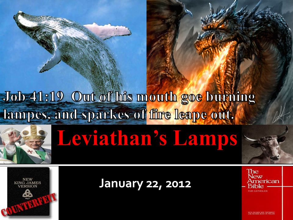 Job 41 Overview Jesus is about to teach us about Leviathan, a character that appears in nearly every book of the bible.