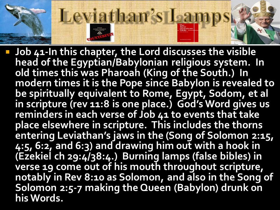 He speak soft words (see psalm 55) and Leviathan testifies that he has a spear in his head in at least one other place in scripture.