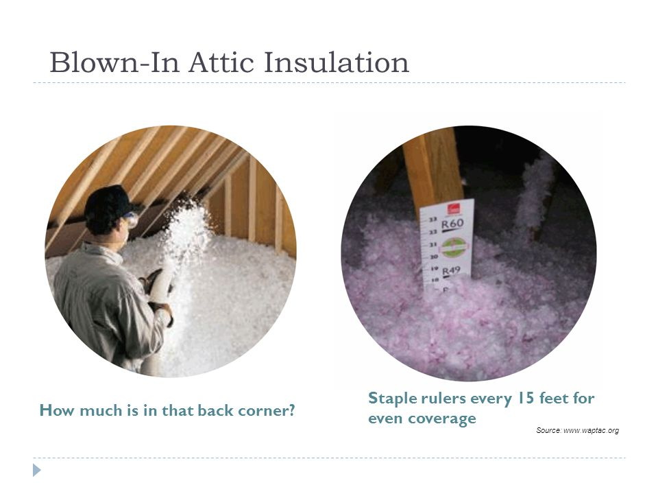 Blown-In Attic Insulation How much is in that back corner.