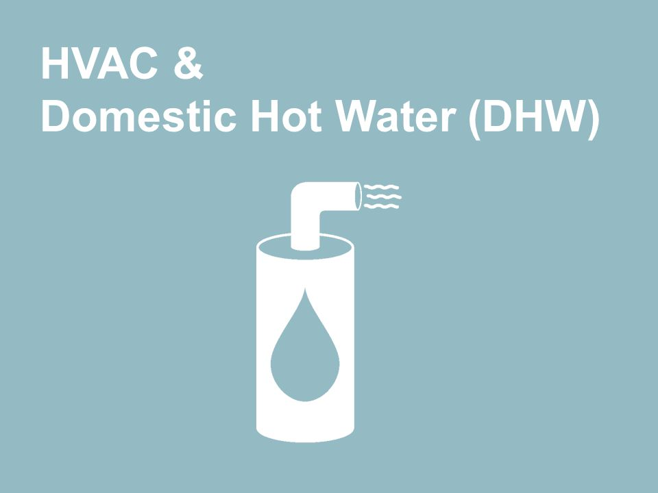 Ways to save energy through purchasing HVAC & Domestic Hot Water (DHW) HVAC & Domestic Hot Water (DHW)