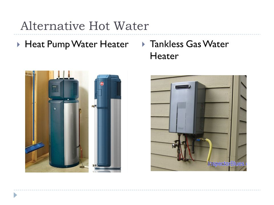 Alternative Hot Water Heat Pump Water Heater Tankless Gas Water Heater
