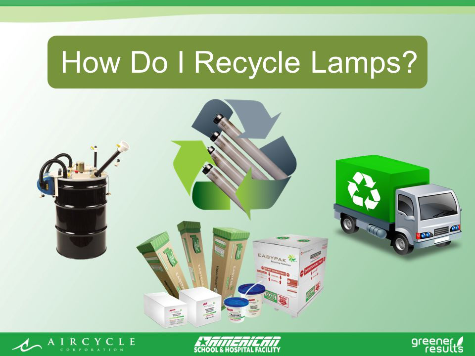How Do I Recycle Lamps