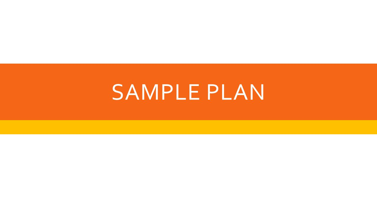 SAMPLE PLAN
