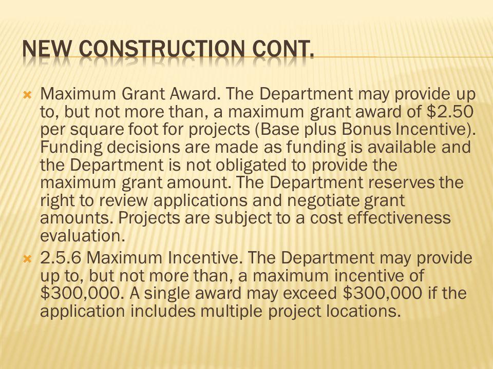 Maximum Grant Award.