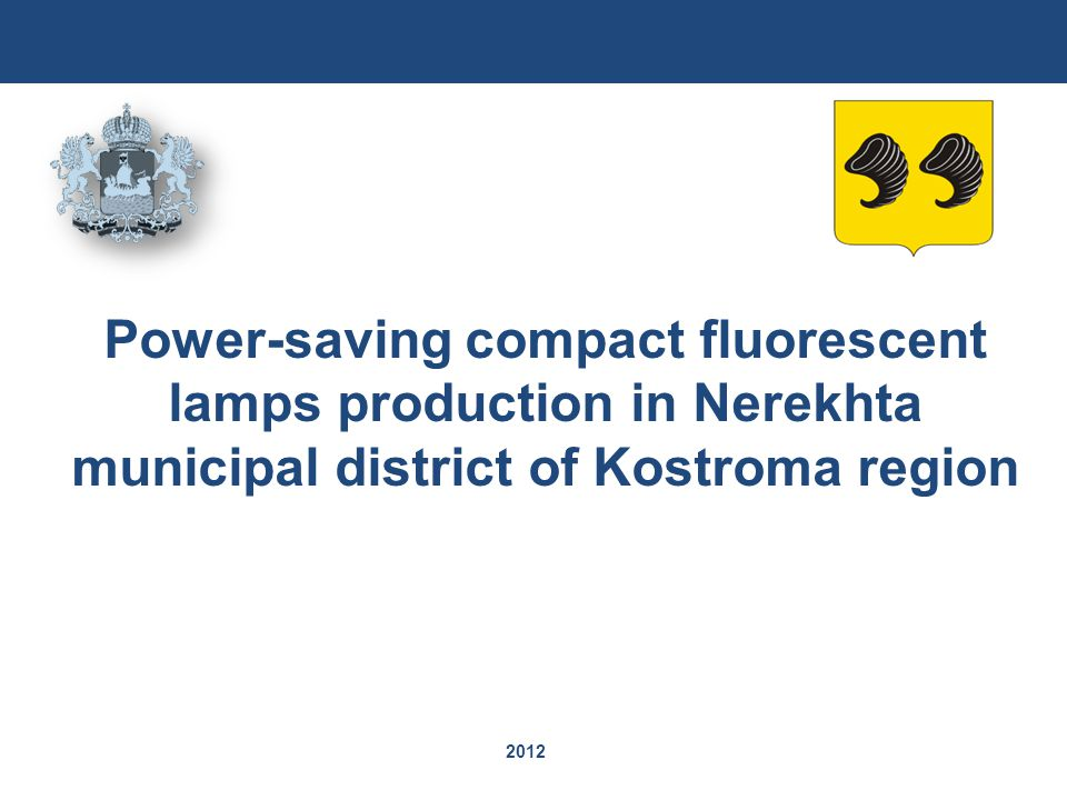 2012 Power-saving compact fluorescent lamps production in Nerekhta municipal district of Kostroma region