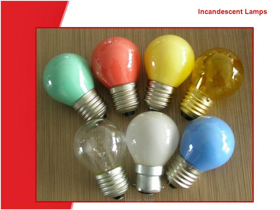 Choke Starter SupplyC s EEE Dept./SJCET Fluorescent Lamps