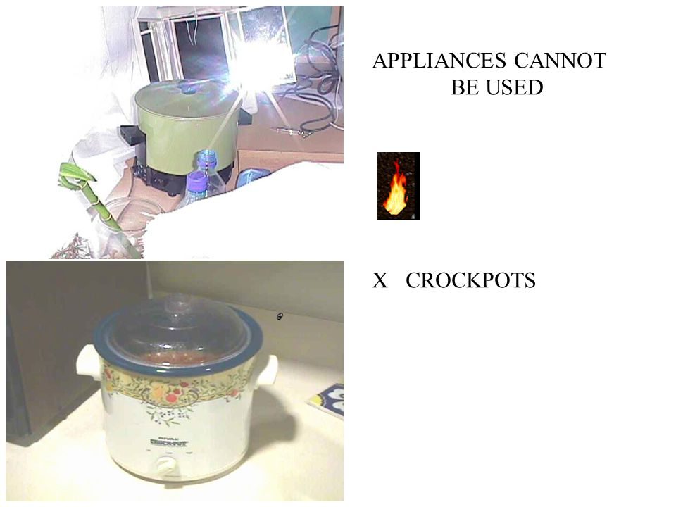 APPLIANCES CANNOT BE USED CROCKPOTSX