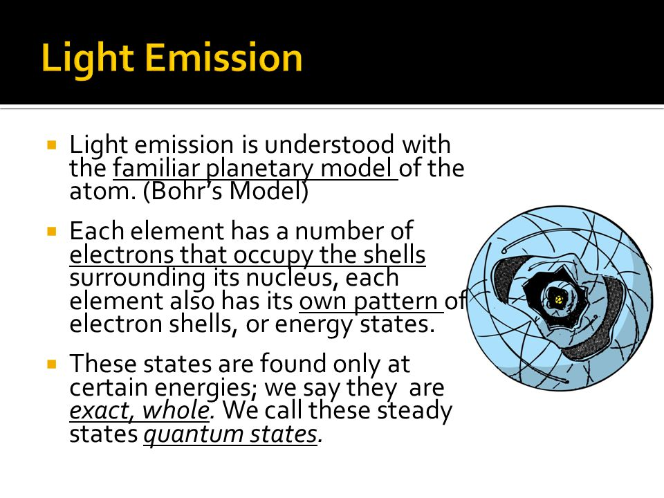 When energy is absorbed by an element, an electron may be boosted to a higher energy level.