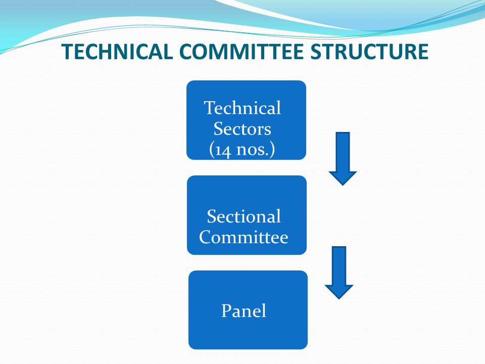 TECHNICAL COMMITTEE STRUCTURE Technical Sectors (14 nos.) Sectional Committee Panel Sectional Committee