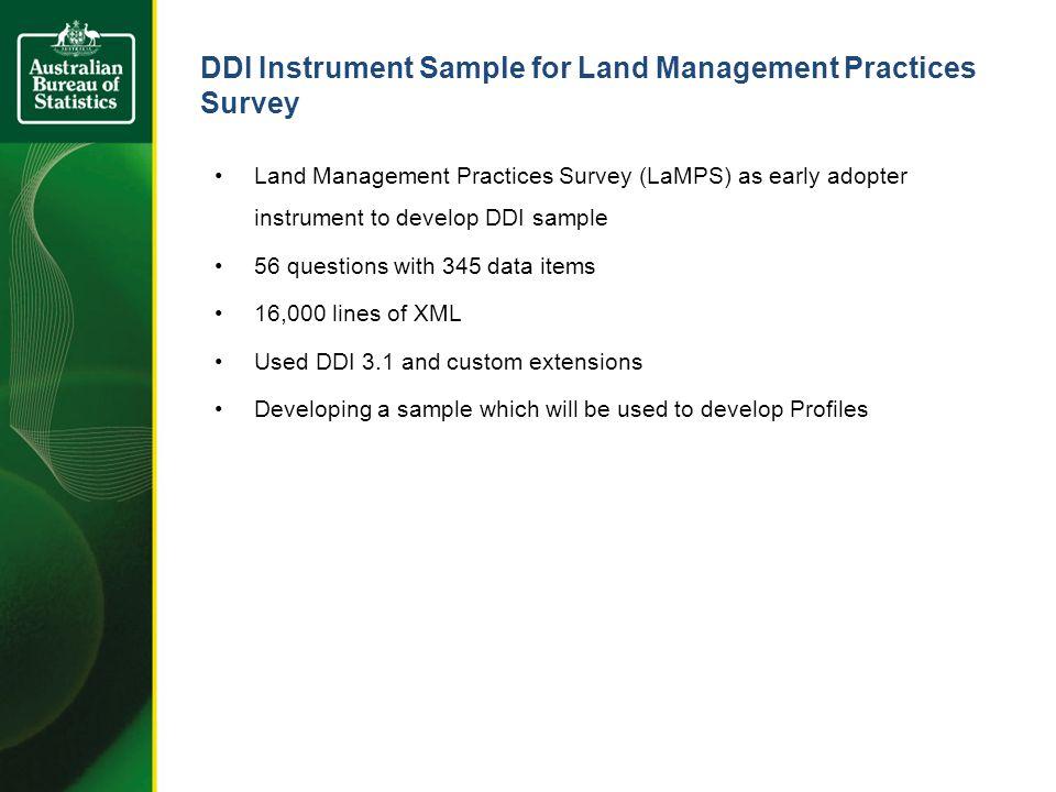 DDI Coverage and eForm Generated
