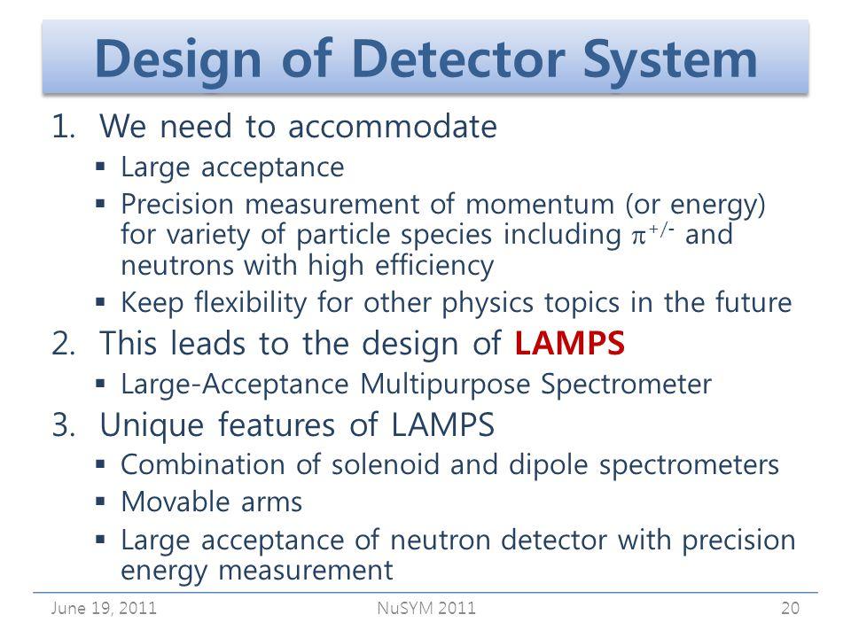 Design of Detector System 1.