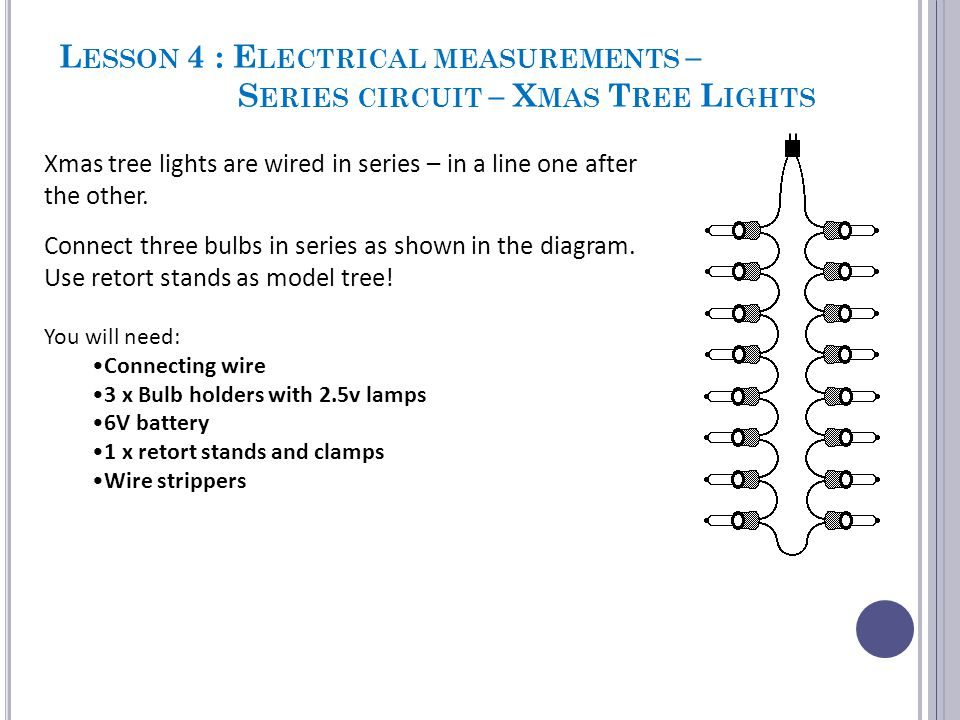 S ERIES V PARALLEL SHOW - ME EXERCISE You will see statements appear that may apply to SERIES circuits or PARALLEL circuit.