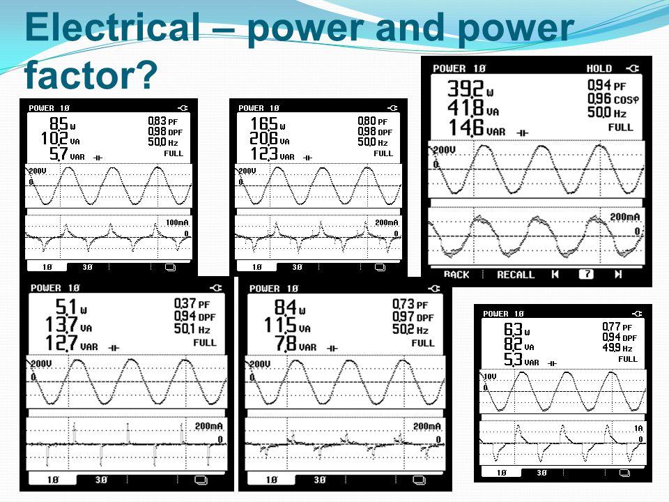 Electrical – power and power factor?