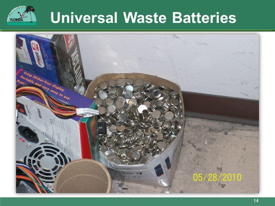 Universal Waste Batteries 14