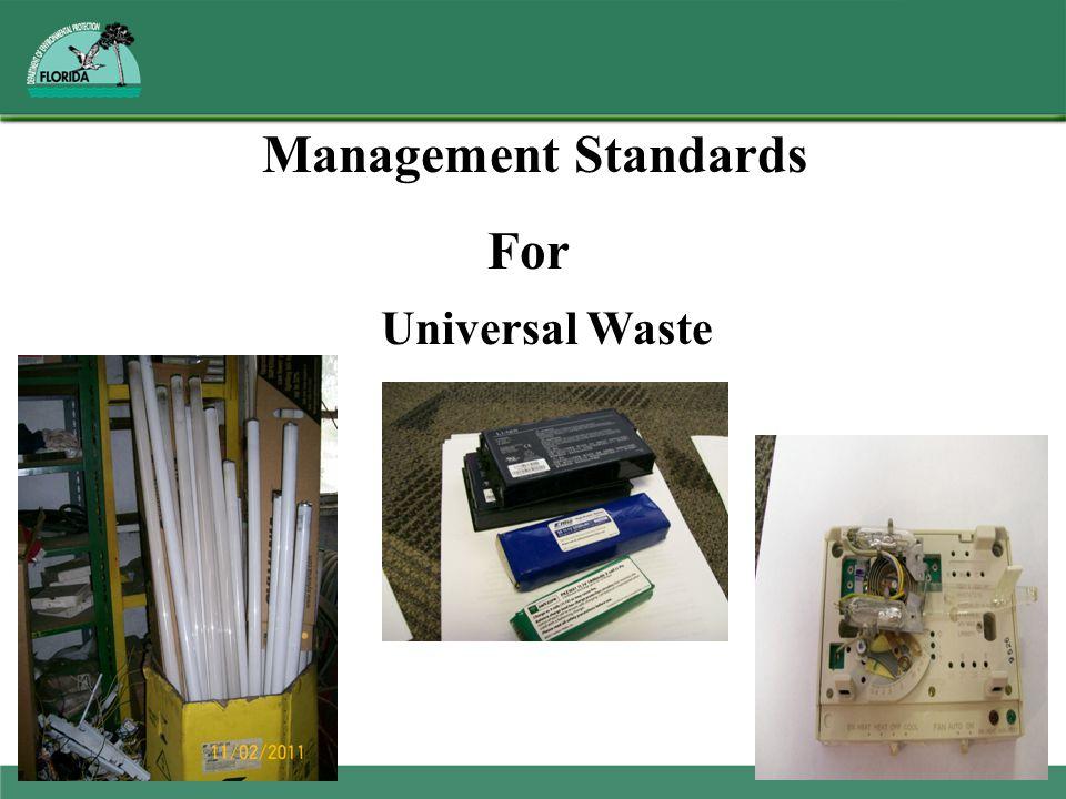 Management Standards For