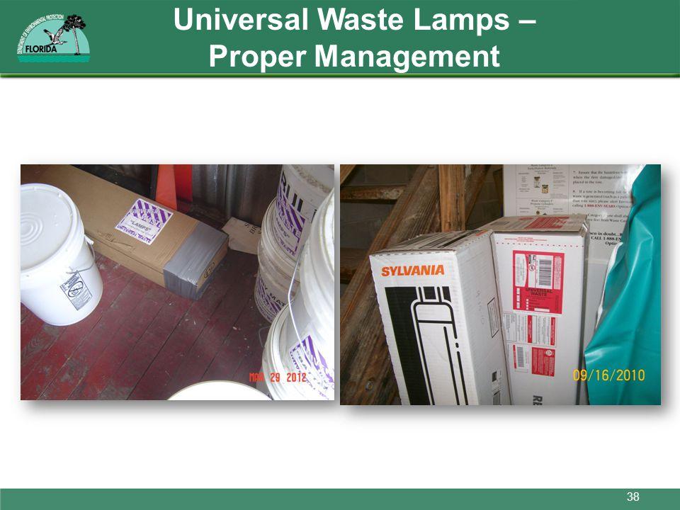 Universal Waste Lamps – Proper Management 38