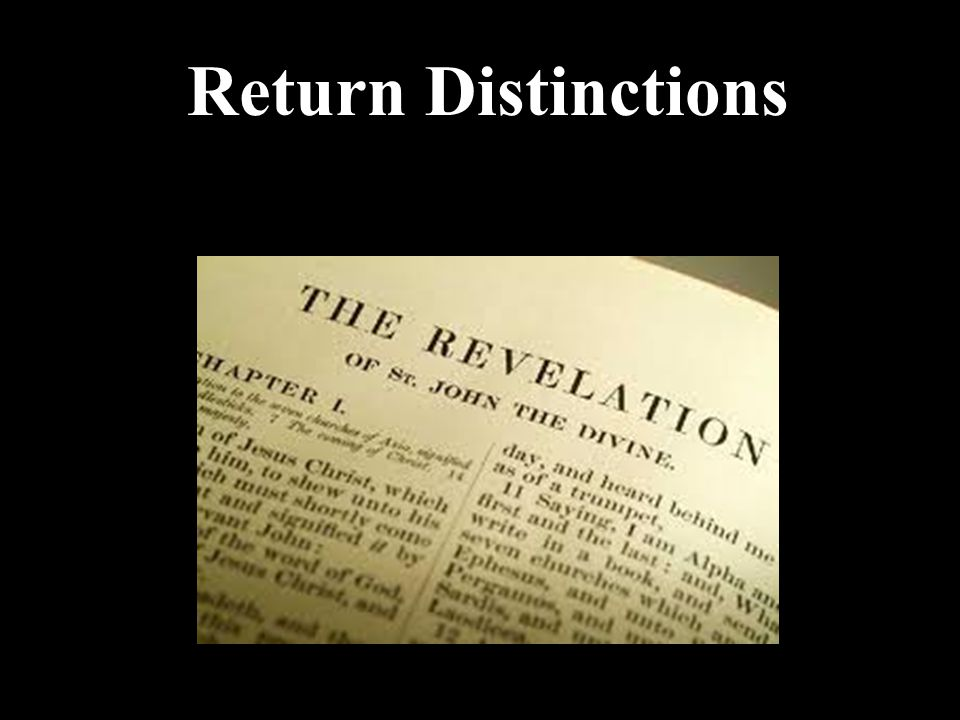 Return Distinctions