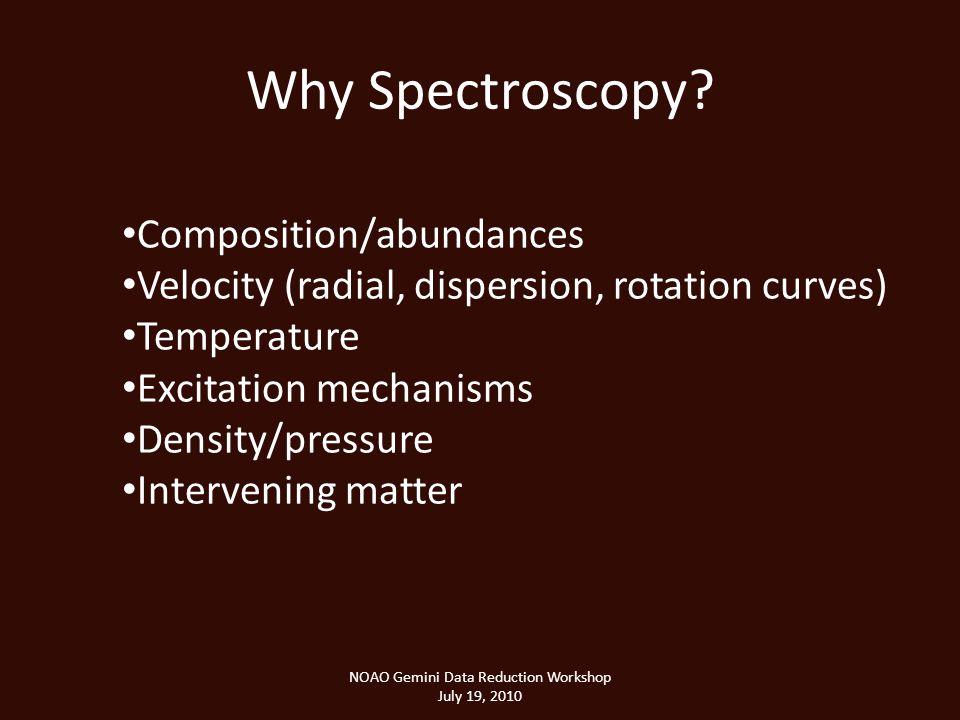 Why Spectroscopy.