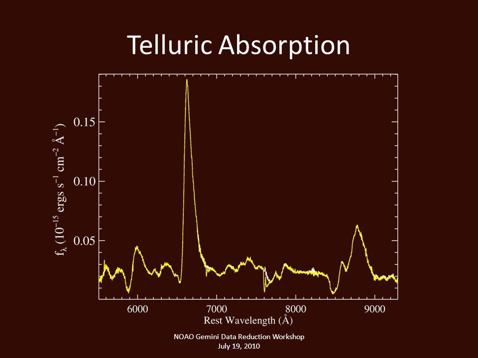 Telluric Absorption NOAO Gemini Data Reduction Workshop July 19, 2010