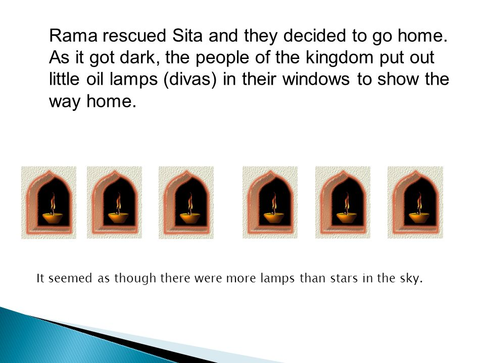 Rama rescued Sita and they decided to go home.
