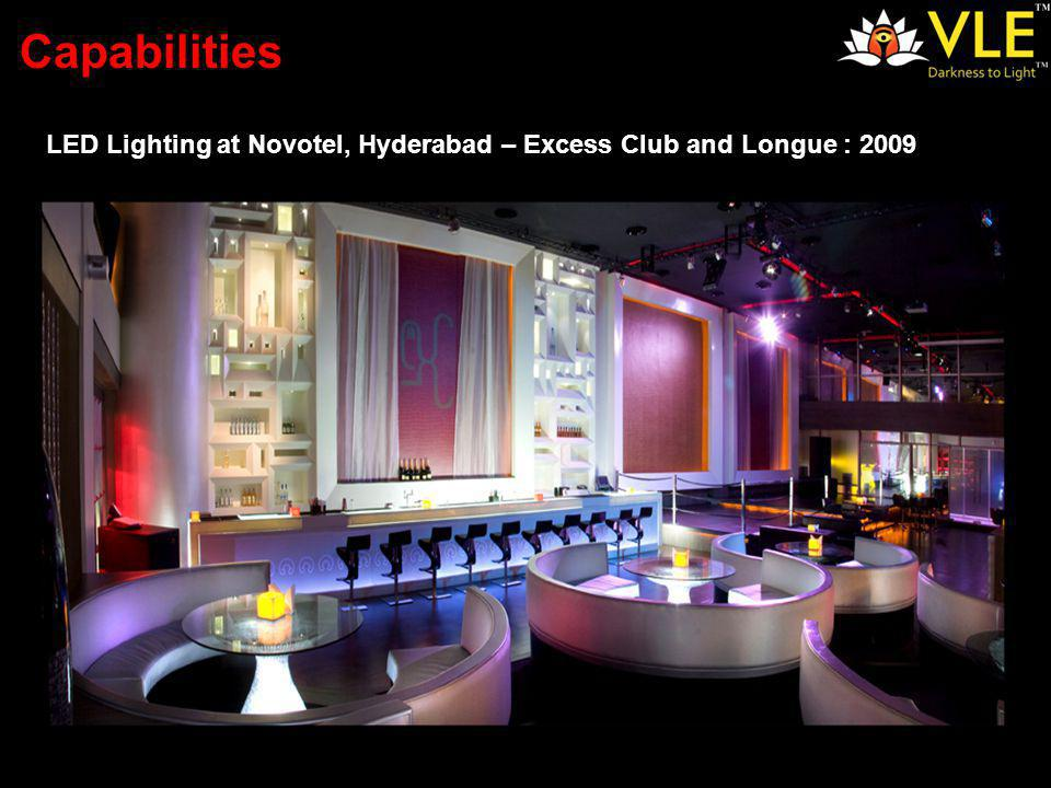 LED Lighting at Novotel, Hyderabad – Excess Club and Longue : 2009