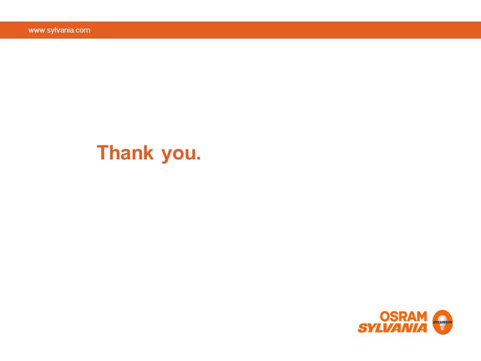 www.sylvania.com Thank you.