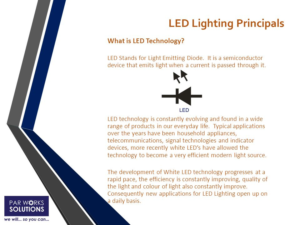 Types of LED Technology There are two major electrical components within a LED luminaire.