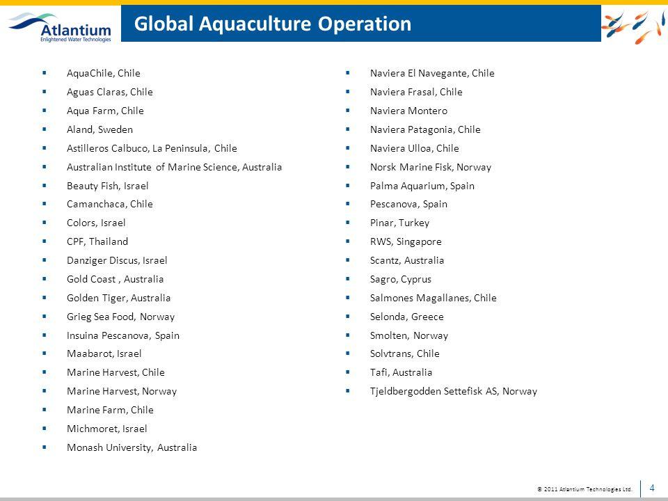 © 2011 Atlantium Technologies Ltd. HOD technology in land-based facilities 5