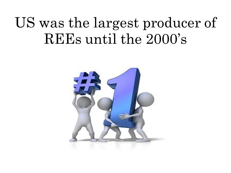 US was the largest producer of REEs until the 2000s